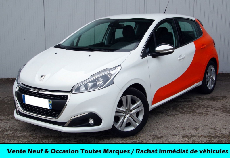 Peugeot 208 1.6 BLUEHDI 100 ALLURE BUSINESS Diesel BLANC/ORANGE Occasion à vendre